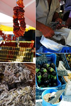 our week in greece in images and menus - greek farmer's market on island of Tinos