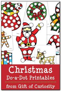 Christmas Do-a-Dot Printables - Gift of Curiosity