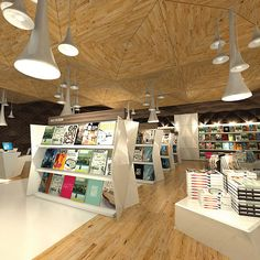 Very nice gondola encaps. The Story Unfolds bookstore design & branding by Leong Huang Zi Bookstore Design, Library Design, City Library, Shop Interior Design, Retail Design, Visual Merchandising, Shop Front Design, Retail Space, Design Furniture