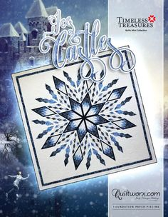 Ice Castles - Available from Quiltworx.com - A Judy Niemeyer Quilting Company. Shop for more patterns and quilting supplies on store.quiltworx.com