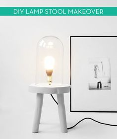 How To: Turn a Stool into a Modern, Quirky 'Table' Lamp