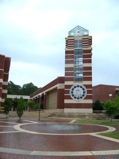 ECU - East Carolina University Pirates - the Joyner Library clock tower.