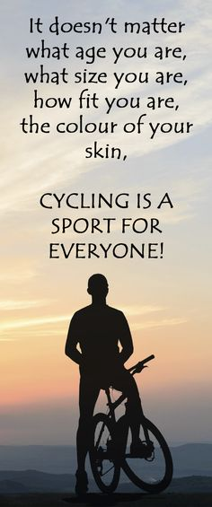 //THIS IS WHY CYCLING IS A SPORT FOR EVERYONE: http://thecyclingbug.co.uk/community/bug-blogs/cycling-stu/b/weblog/archive/2014/03/27/cycling-a-sport-for-everyone.aspx?utm_source=Pinterest&utm_medium=Pinterest%20Post&utm_campaign=ad Do you agree? #cycling #bike #bicycle