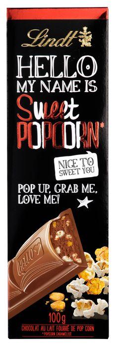 Écoutez le joyeux bruit du popcorn caramélisé qui éclate avant sa rencontre avec un délicieux chocolat au lait Lindt… Yummy yummy ! Prêts à croquer ?