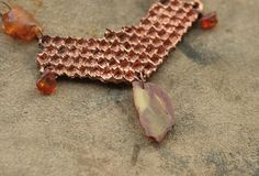 Honeycomb amber necklace electroplated honey comb jewelry