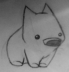 Kawaii Drawings, Easy Drawings, Drawing For Kids, Art For Kids, Drawing Prompt, Aboriginal Art, Rock Art, Animal Drawings, Doodles