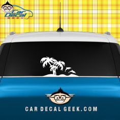Tropical dolphin island car decal #dolphins #cardecals #tropical