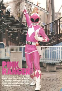 "Kimberly as a pink power ranger in season 1 of ""Mighty Morphin Power Rangers"" , 1993 First Power Rangers, Pink Power Rangers, Mighty Morphin Power Rangers, 90s Childhood, Childhood Memories, Pink Ranger Kimberly, Amy Jo Johnson, Pawer Rangers, Samurai"