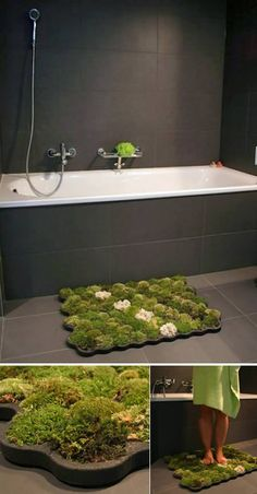The Moss Carpet, created by Nguyen La Chanh, is designed to get the grass to your feet, and also in your loo! Made from imputrescible foam called plastazote, the mat includes ball moss, island moss and forest moss. The humidity of the bathroom ensures that the mosses thrive. That's why you need to place it there and not anywhere else. Little gnomes not included.