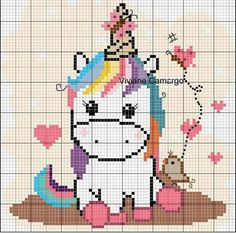Most recent No Cost Cross Stitch unicorn Ideas Given that For a nice and corner stitches considering I became a girl We in some cases expect that everybody Cross Stitch Horse, Unicorn Cross Stitch Pattern, Cross Stitch Baby, Cross Stitch Animals, Cross Stitch Charts, Cross Stitch Patterns, Pixel Art, Diy Perler Beads, Unicorn Crafts