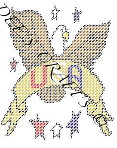 USA EAGLE PLASTIC CANVAS PATTERN by DEE'S CRAFTS