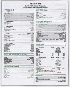 TOPSELLER! Cessna Skyhawk C172 C-172 Checklist $9.95