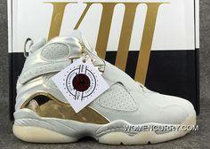 best website f147a aae4f  Champagne  Air Jordan 8 Light Bone Metallic Gold-White Online