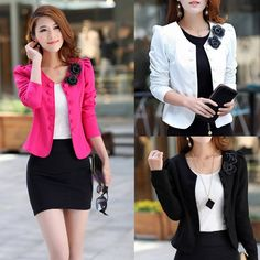 Material: cotton blend    4 Colors for your choice:  Black, White, Rose red, Pink   Occasion: casual, work  Unique style, create a illusion for stunning curves.     5 sizes available:   Asian M (US S(4) ,UK 6, AU 8)   Asian L (US M(8-10),UK 10, AU 12)    Asian XL (US L(12),UK 14, AU 16)    Asian XXL (US XL(16),UK 18, AU 20)    Asian XXXL (US XXL(20),UK 22, AU 24)     Size: There arefive sizes (M , L, XL, and XXL, XXXL)   available for the following listing. please allow 1-2cm differs due ...