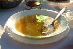 Juha, beef clear soup, is eaten every day in Croatia