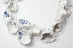 Pia PASALK (DE)- Necklace One – length 70 cm / Porcelain and sterling silver - detail