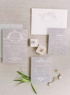 Wedding Invitation Inspiration Neutral Wedding Invitations Flat Lay Photography Wedding Day photos Seaside, Florida  Photo by Saywer Baird Photography