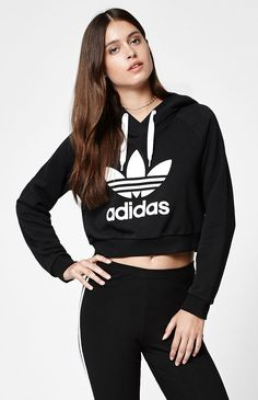 Adidas Cropped Pullover Hoodie - The name says everything Cropped!!!