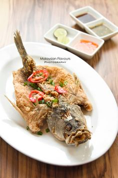 Deep Fried Fish with Trio Sauce #fish #friedfish #mangochili #bangsarsouthcity #thaifood