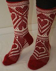 Sokkene Eline Therese er strikket i Mosaikk strikk.