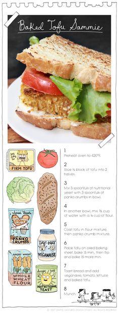 Recipe: Baked Tofu Sammie by The Vegan Stoner More at: TheVeganStoner.com