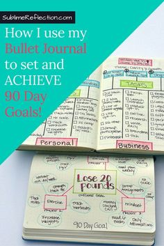 How I use my Bullet Journal to set [and achieve] 90 day goals