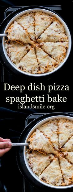 """It's a spaghetti Pizza!"", is what the kids are calling it, an easy to make ahead dinner idea you can adapt."