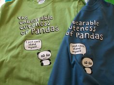 Our new design Unbearable cuteness of Panda's. The name says it all! Out now