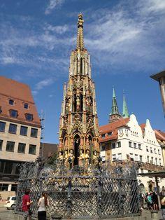 Golden Fountain at Market Square, Nuremburg, Germany