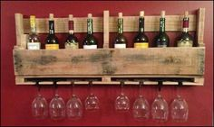 Wine rack from a recycled pallet