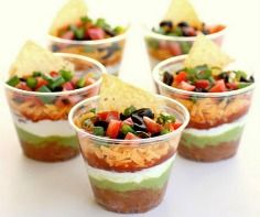 individual 7 layer dips!