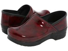 Red marbled Dansko clogs ... my feet & back are smiling at the sight!