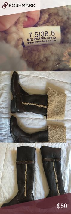 warm boots! super cozy shearling boots! very comfortable! only wore a few times, but i don't need them because i moved to a warm climate. size 7.5 Born Shoes Winter & Rain Boots