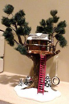 Dept 56 Snow Village Treetop Tree House 54890 Retired 2004 | eBay