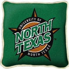 University of North Texas tapestry pillow. Great gift for the University of North Texas graduate or alumni.