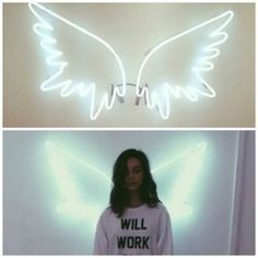home accessory angel wings lighter rooms bedroom amanda steele neon angel wings white neon home decor lights pretty girly classy cute fly angel wings accesorises light neon light neon wing sign wall decor (bedroom wall decorations pictures) Neon Lights Bedroom, Neon Sign Bedroom, Bedroom Lighting, Bedroom Decor, Bedroom Wall, Bedroom Ideas, My New Room, My Room, Dorm Room