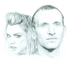 The Ninth Doctor and Rose by Keava-Rayne.deviantart.com on @deviantART