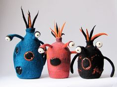 Needle and Wet Felted Monsters