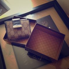 SALEAuthentic Gucci Wallet Purchased off the Gucci website. (Serious inquires I will add receipt photo) gently used, 3 years old. Matches my Gucci bag listed for sale also. Bifold wallet. Leather interior credit card slots, cash slot, coin slot. Snap closure. (Going up on my eBay soon also.) Gucci Bags Wallets