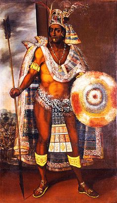 Moctezuma Xocoyotzin, or Moctezuma II, (c.1466-29 June 1520) was the ninth Aztec ruler. He was captured by Hernán Cortés, and killed in the subsequent battles. Details of his death are unknown, though it is commonly believed that he was stoned to death by his own people for failing to protect their city. Montezuma, Moctezuma Ii, Maya, Aztec Empire, Oil On Canvas, Canvas Prints, Portrait Wall, Portrait Paintings, Portraits