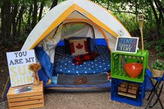 Make your camping tent feel like home.