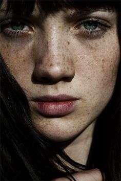 ♀ Woman portrait face with Freckles Angelle Boucher. #Freckles #beautiful #faces