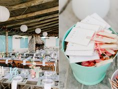 paper fan programs - photo by Nadia Meli http://ruffledblog.com/western-cape-beach-wedding