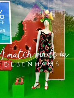 #ShopperMarketing #Retail #POS #PointofSale #Shopping #Design #StoreDesign #PassionateAboutPOS #Instore #InstoreCommunications #POP #2017 Market Stalls, Shop Fronts, Window Design, Debenhams, Department Store, Visual Merchandising, Store Design, Boutiques, Watermelon