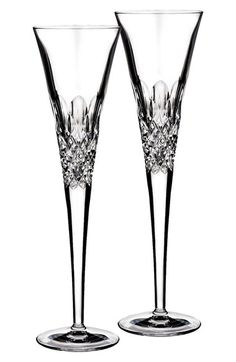 MoniqueLhuillierWaterford 'Ellypse' Lead Crystal ChampagneFlutes (Set of 2) available at #Nordstrom