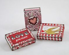 junk&stuff: Matchbox Valentines For Your Sweetie
