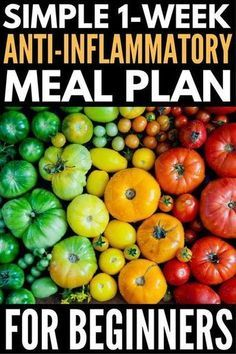 This delicious anti-inflammatory meal plan will help boost your immune system, keep your autoimmune disease under control, and aid in weight loss! Diet Food To Lose Weight, Weight Loss Meals, Reduce Weight, Losing Weight, Nutrition Education, Nutrition Diet, Ginger Benefits, Juicing Benefits, 7 Day Meal Plan