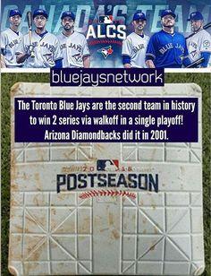 Toronto Blue Jays. Arizona Diamondbacks. MLB. Baseball. 2016 postseason. Canada's Team. #OurMoment