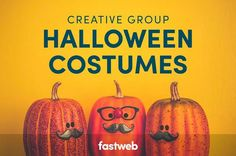 Great Halloween costume ideas for groups of two or more! Great Halloween Costumes, Group Halloween, Costume Ideas, Fun Group, Group Costumes, Pumpkin, Creative, Holiday, Diy Ideas