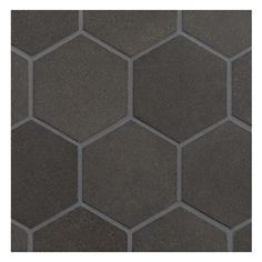 "BASALT MOSAIC TILE - Hexagon 3"" Mosaic Honed Finish. Basalt is an extreemely dense volcanic stone in a deep charchoal black color, excellent for modern designs. Complete Tile Collection #BasaltMosaicTile"